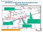identified target areas around acadiana area 2012 and beyond