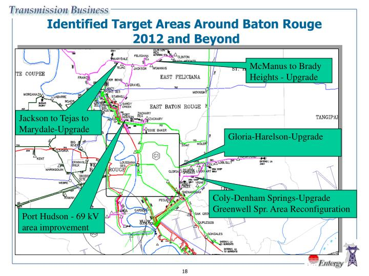 Identified Target Areas Around Baton Rouge