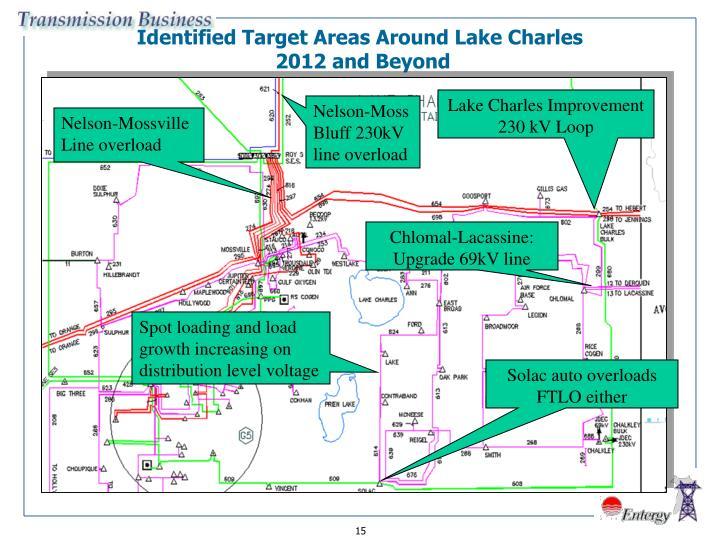 Identified Target Areas Around Lake Charles