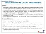 jefferson davis 69 kv area improvements