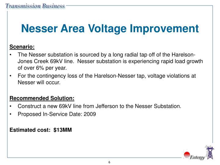 Nesser Area Voltage Improvement