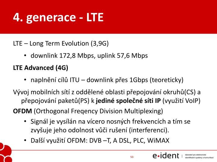 4. generace - LTE