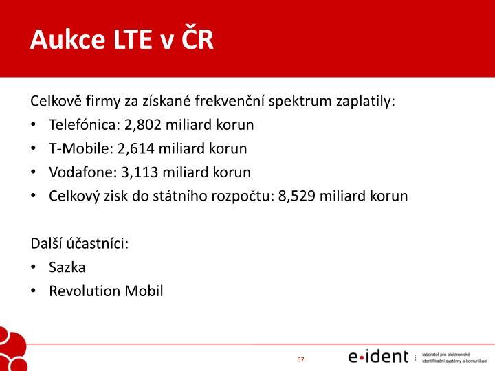 Aukce LTE v ČR