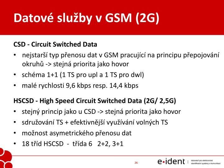 Datové služby v GSM (2G)