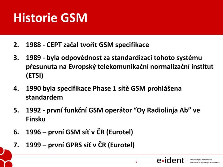 Historie GSM