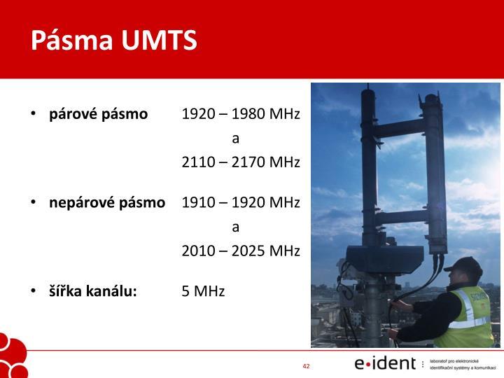 Pásma UMTS