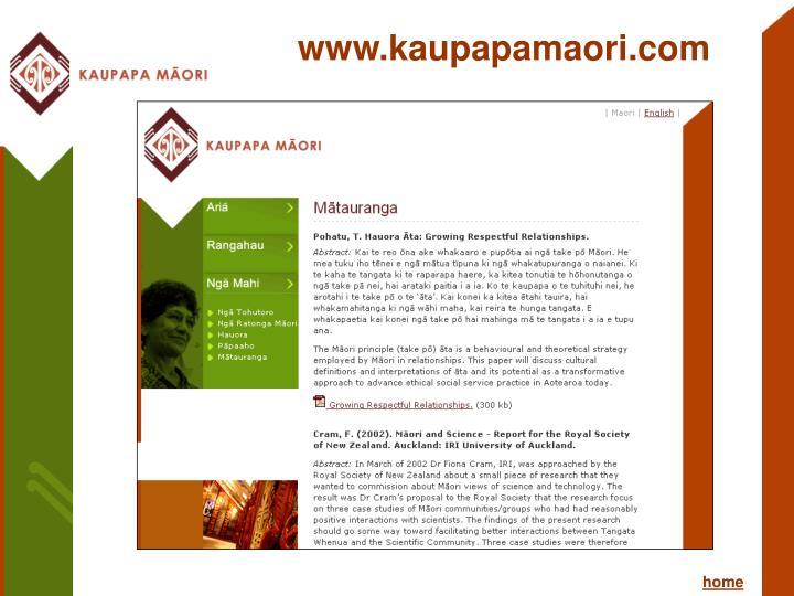 www.kaupapamaori.com