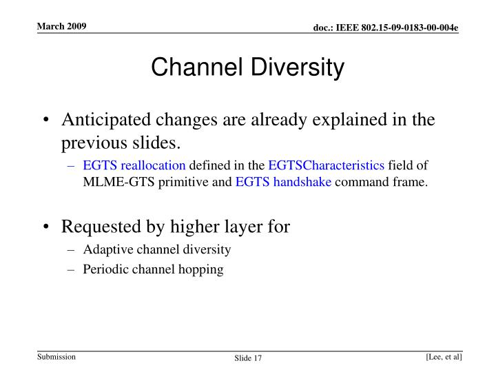 Channel Diversity