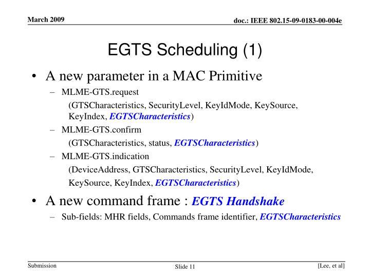 EGTS Scheduling (1)