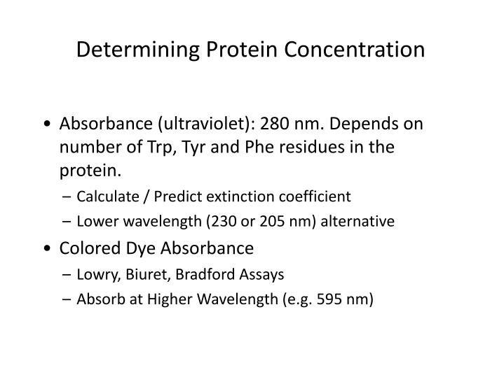 Determining Protein Concentration
