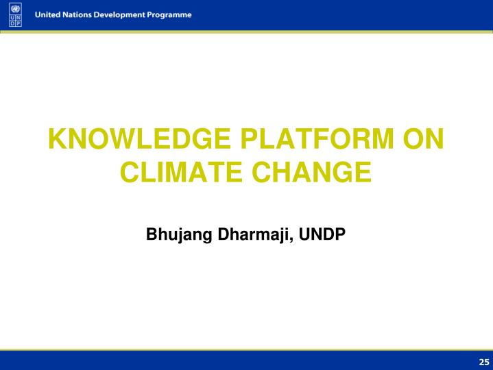 KNOWLEDGE PLATFORM ON CLIMATE CHANGE
