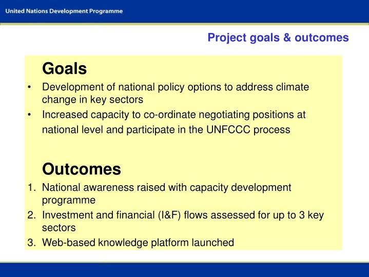 Project goals & outcomes