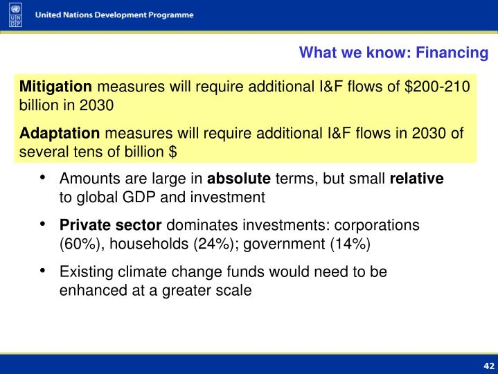 What we know: Financing