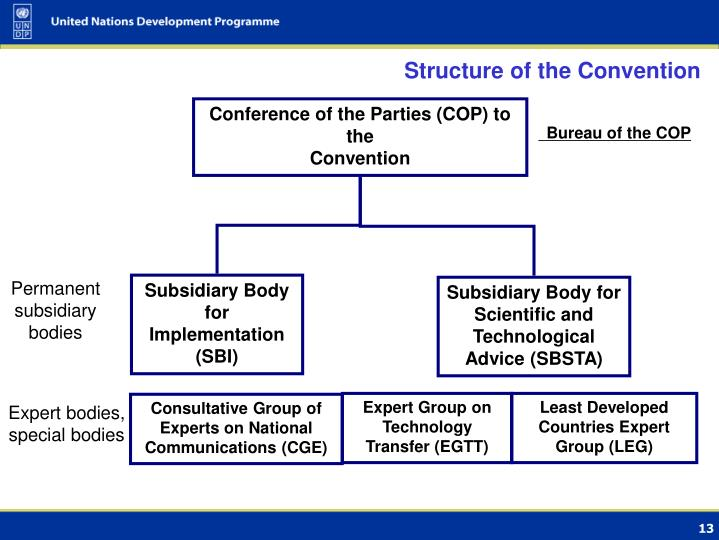 Structure of the Convention