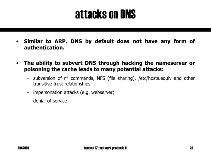 attacks on DNS