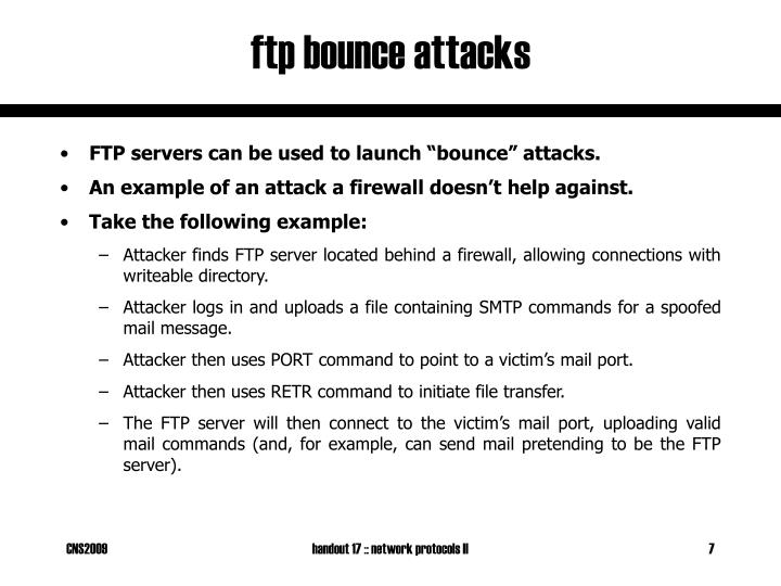 ftp bounce attacks