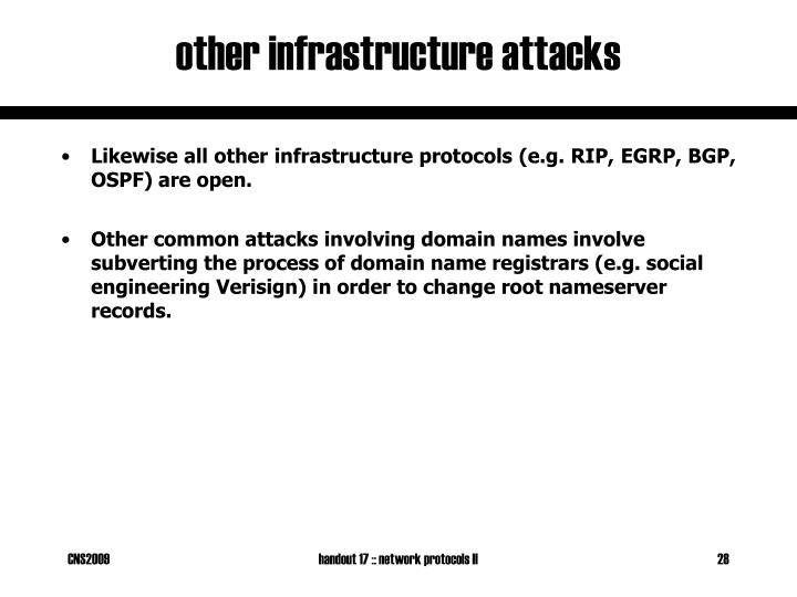 other infrastructure attacks