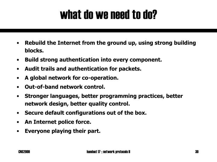 what do we need to do?