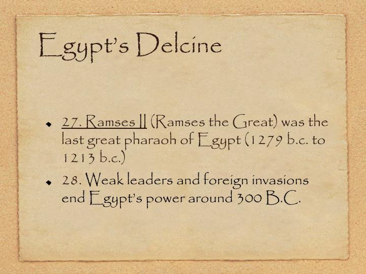 Egypt's Delcine