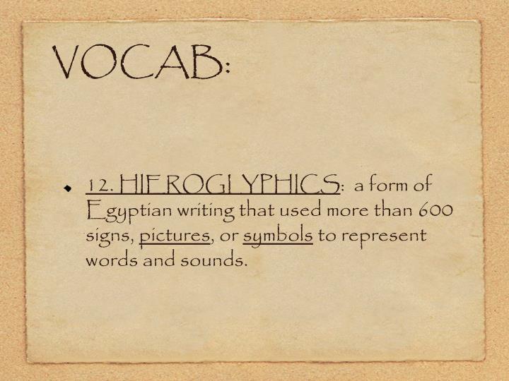 VOCAB: