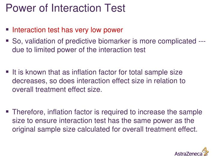 Power of Interaction Test