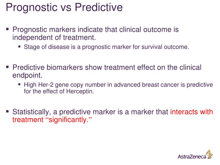 Prognostic vs Predictive