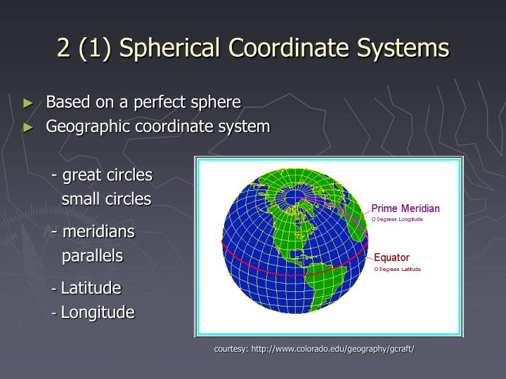 2 (1) Spherical Coordinate Systems