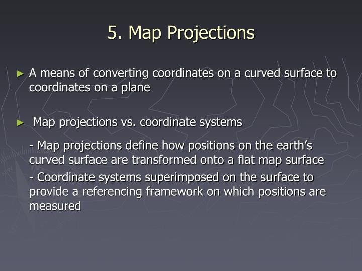 5. Map Projections