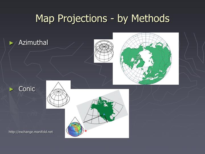 Map Projections - by Methods