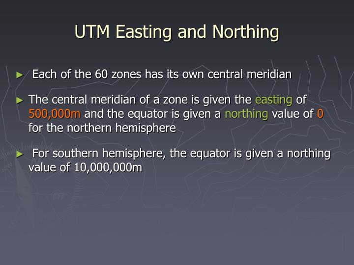 UTM Easting and Northing