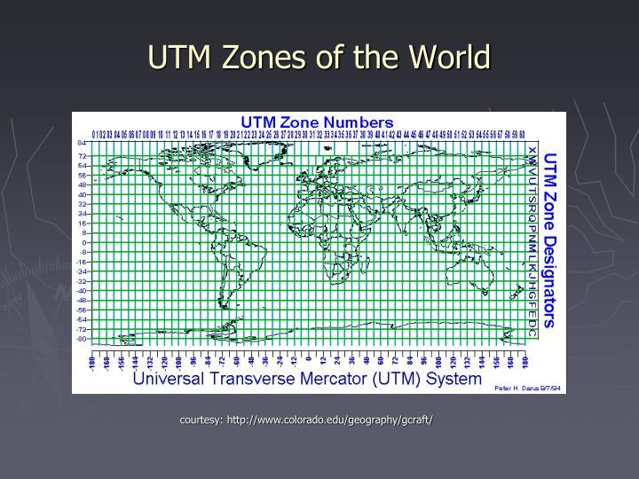 UTM Zones of the World