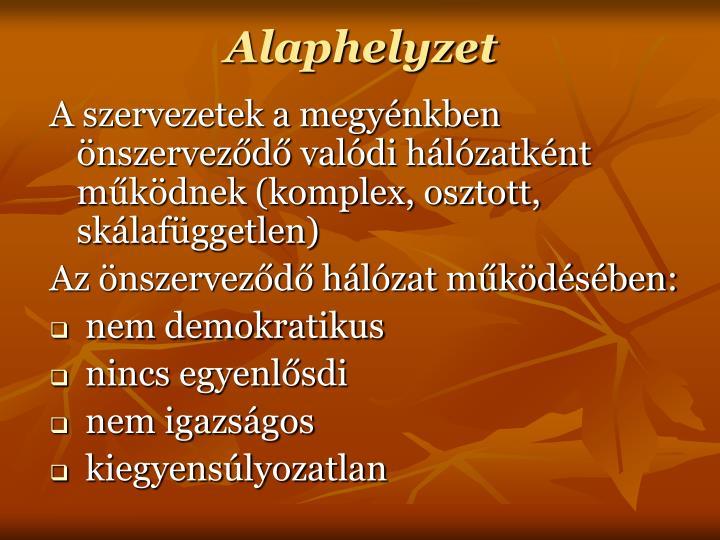 Alaphelyzet