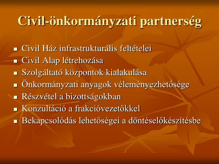 Civil-önkormányzati partnerség