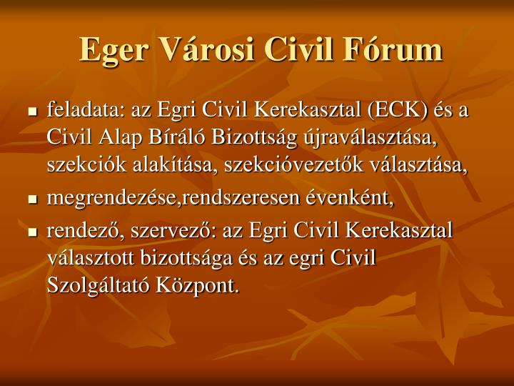 Eger Városi Civil Fórum