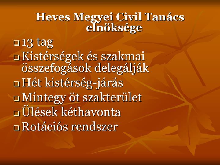 Heves Megyei Civil Tanács elnöksége