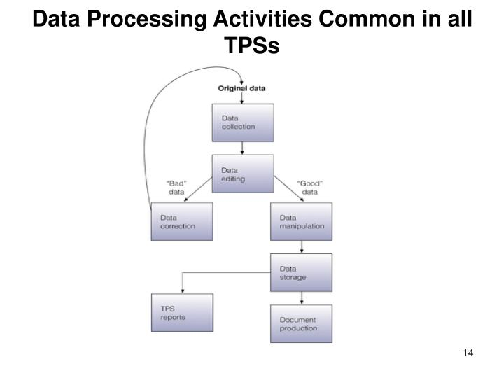 Data Processing Activities Common in all TPSs