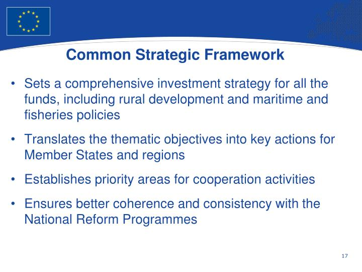 Common Strategic Framework