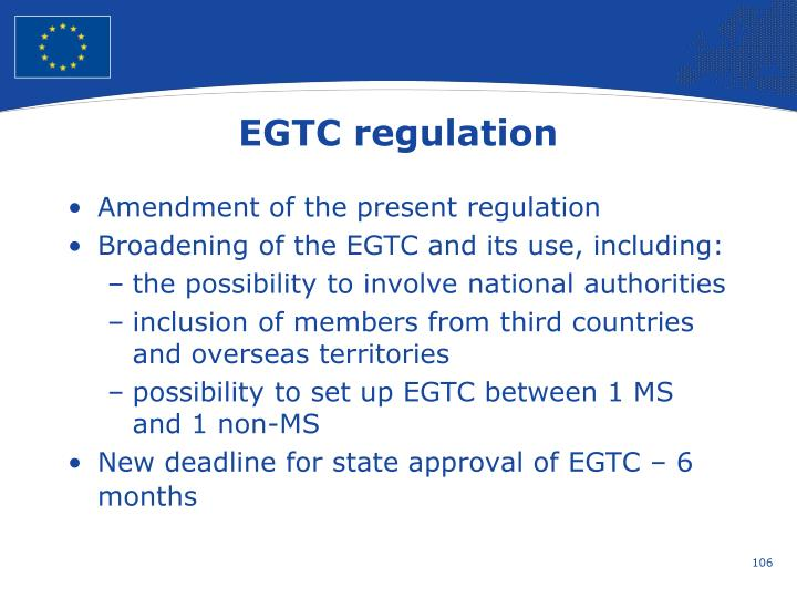 EGTC regulation