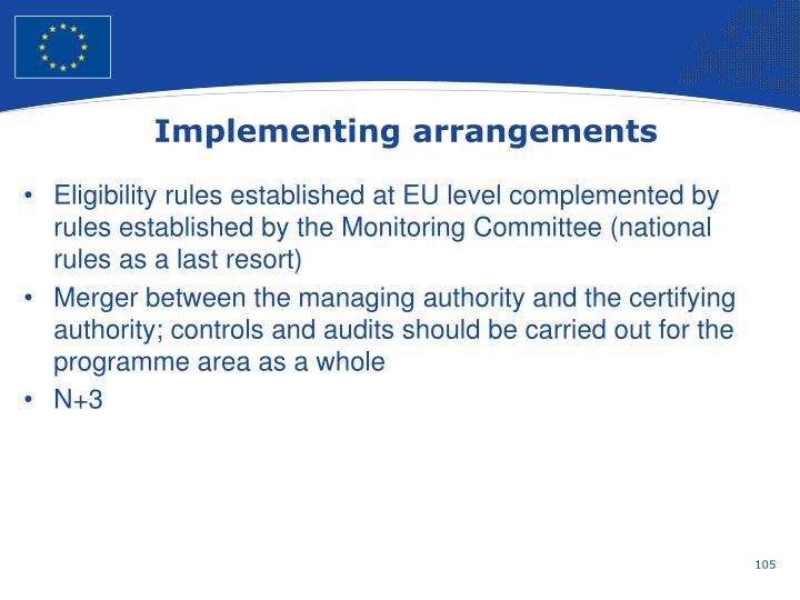 Implementing arrangements