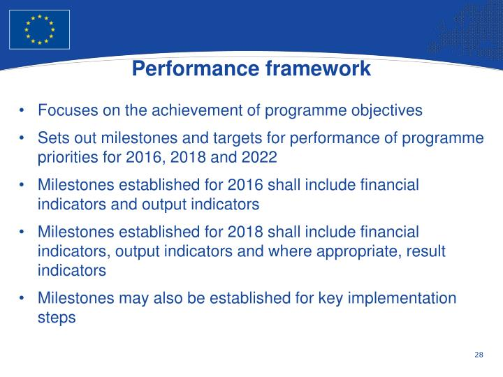 Performance framework