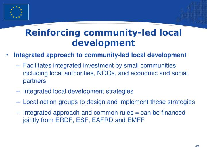 Reinforcing community-led local development