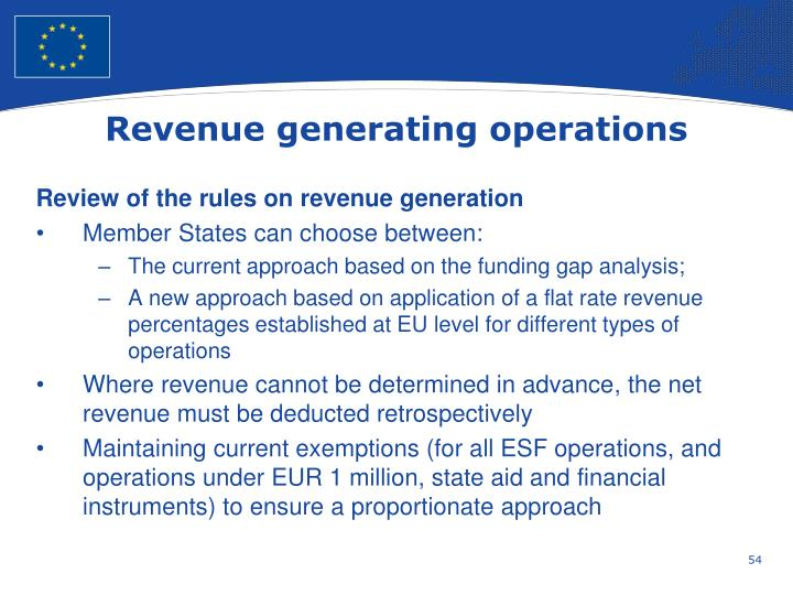 Revenue generating operations