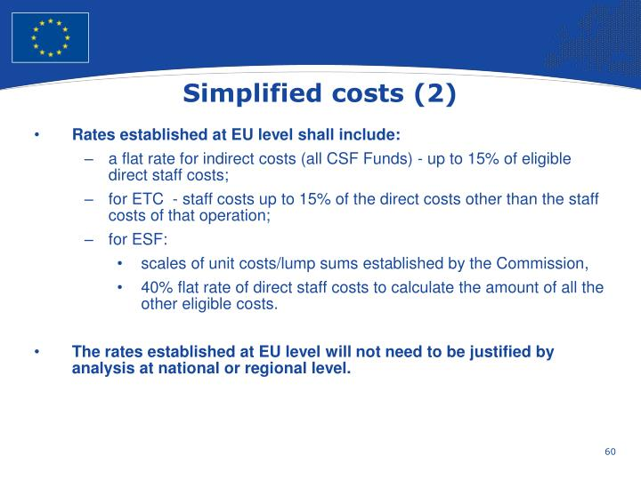 Simplified costs (2)