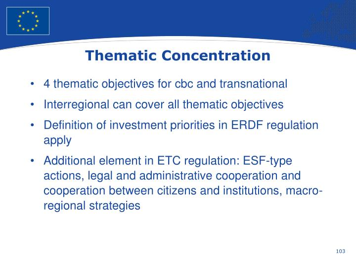 Thematic Concentration