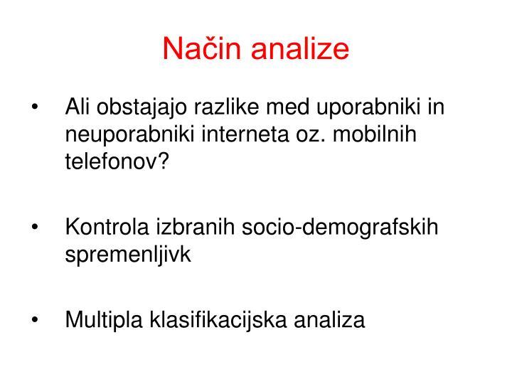 Način analize