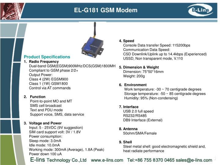 EL-G181 GSM Modem