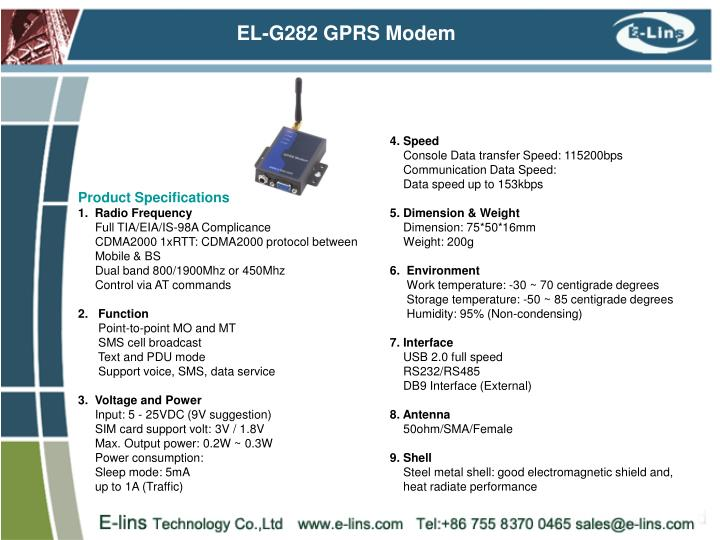 EL-G282 GPRS Modem