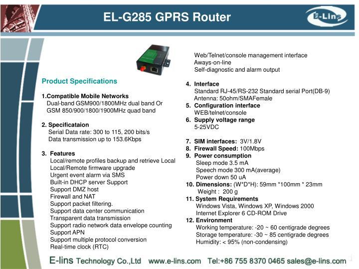 EL-G285 GPRS Router