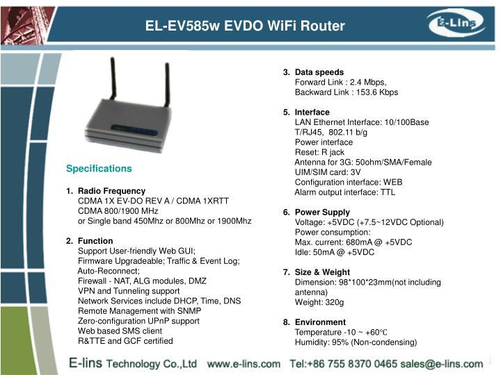 EL-EV585w EVDO WiFi Router