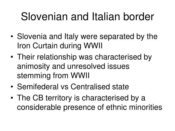 Slovenian and Italian border